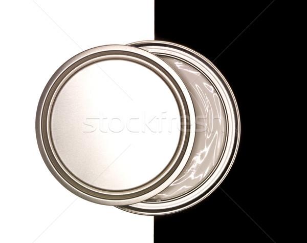 Festékes flakon feketefehér terv festék fekete fehér Stock fotó © gemenacom