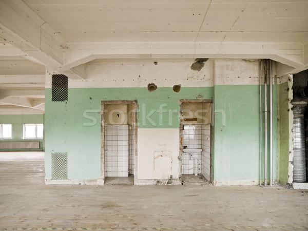 üres raktár belső építkezés fal ablak Stock fotó © gemenacom