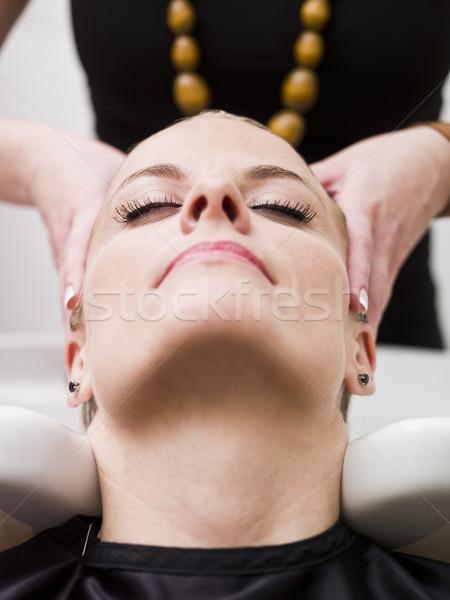Kapsalon situatie ontspannen schoonheid dienst Stockfoto © gemenacom