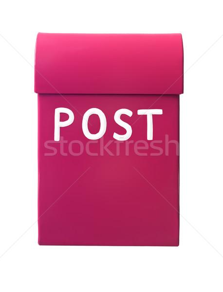 Postaláda izolált fehér iroda doboz posta Stock fotó © gemenacom