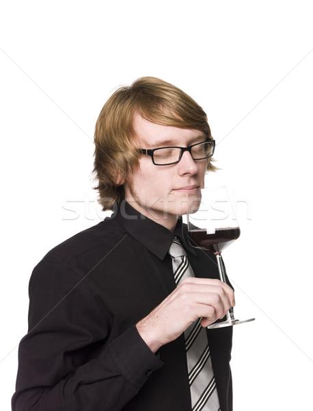 Man smelling wine Stock photo © gemenacom