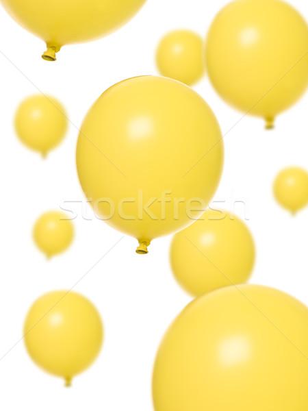 Geel ballonnen geïsoleerd witte ballon viering Stockfoto © gemenacom