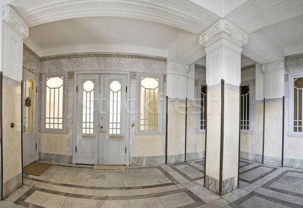 Giriş salon iç çağdaş kapı halı Stok fotoğraf © gemenacom
