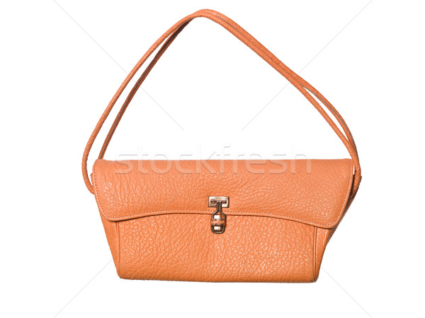 Narancs pénztárca izolált fehér divat táska Stock fotó © gemenacom
