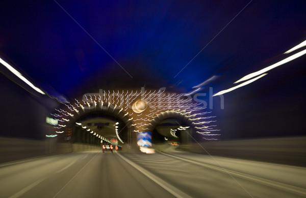 движения туннель движущихся автомобилей дороги грузовика Сток-фото © gemenacom