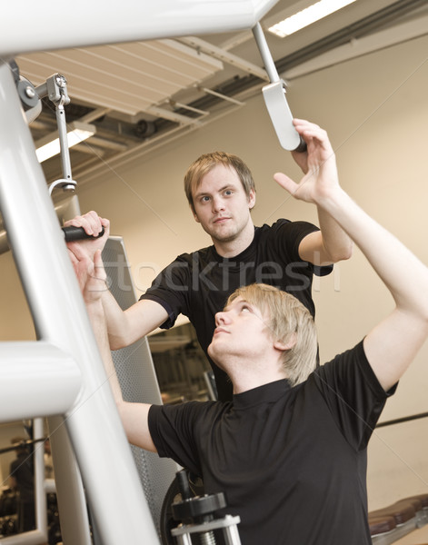 Man instructing Stock photo © gemenacom