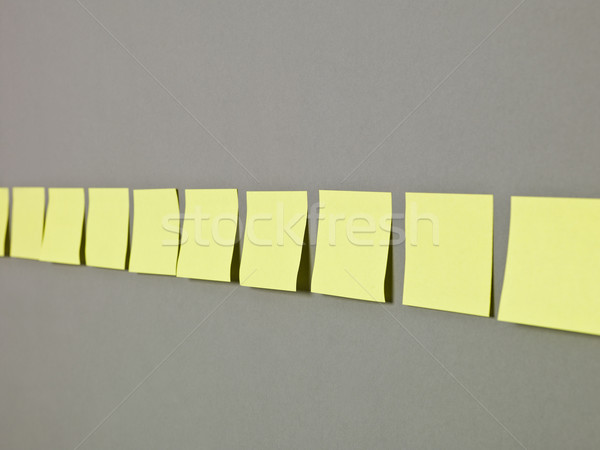 Adhesive Notes in a row Stock photo © gemenacom