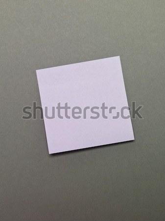 Fioletowy przyczepny Uwaga szary papieru Zdjęcia stock © gemenacom