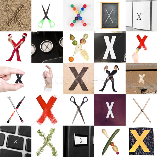 Collage of Letter X Stock photo © gemenacom