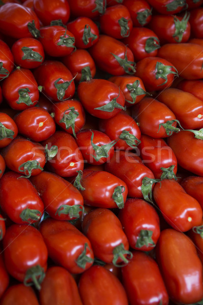 Perfect Shaped tomatoes full frame at the Vegetable Market in Pa Stock photo © gemenacom
