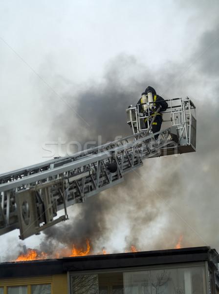 Fireman working Stock photo © gemenacom