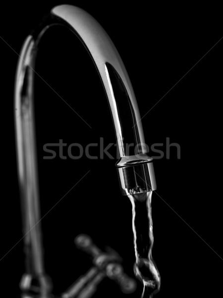 Torneira de água torneira água preto energia aço Foto stock © gemenacom