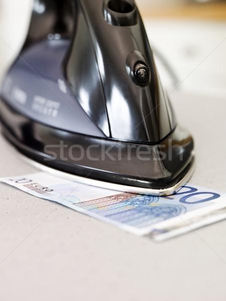 Strijken geld euro bank nota business Stockfoto © gemenacom
