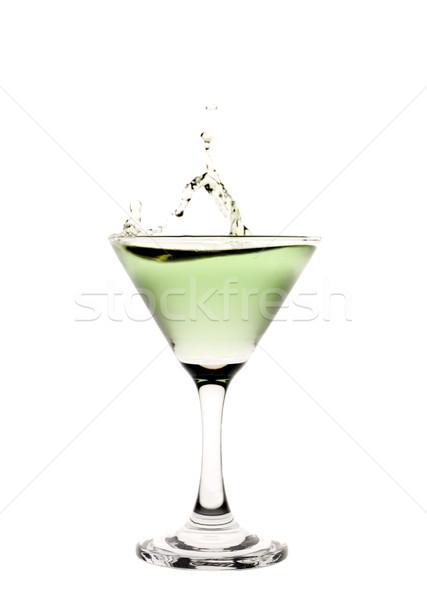 Verde líquido martini glass beber coquetel Foto stock © gemenacom