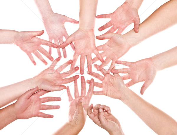 Group of Human Hands Stock photo © gemenacom
