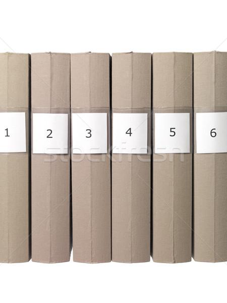 Folders in a row Stock photo © gemenacom