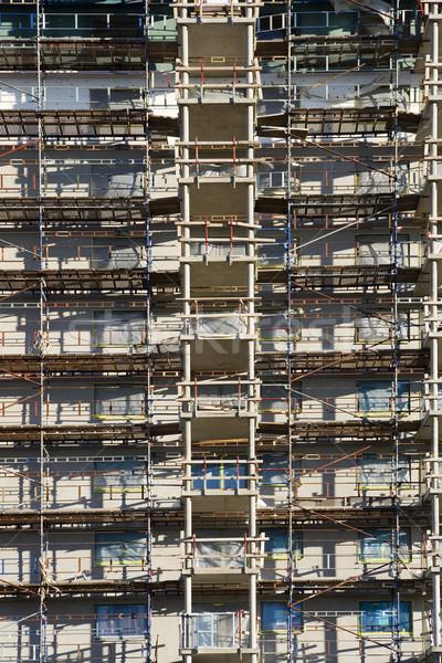 Full frame costruzione abstract lavoro acciaio Foto d'archivio © gemenacom