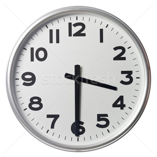 Metà passato tre clock nero bianco Foto d'archivio © gemenacom