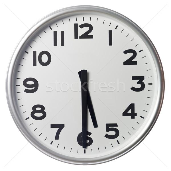 Fél múlt öt óra fekete fehér Stock fotó © gemenacom