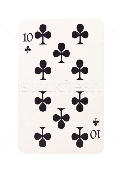Diez aislado blanco negro trébol éxito Foto stock © gemenacom