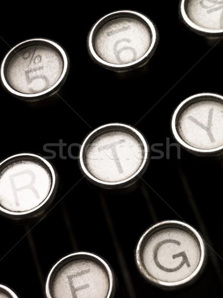 Vintage Typewriter Keys Stock photo © gemenacom