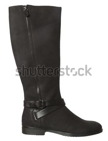 Siyah çizme yalıtılmış beyaz kış ayakkabı Stok fotoğraf © gemenacom