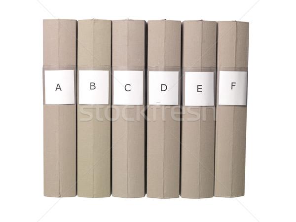 Six folders in a row Stock photo © gemenacom