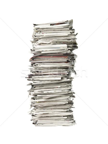 Pile of newspapers Stock photo © gemenacom