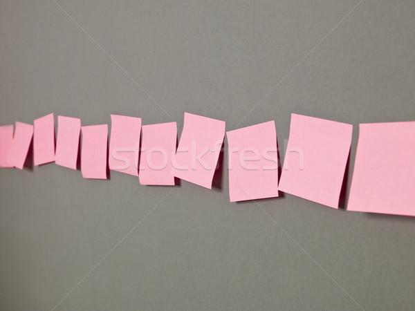 Csetepaté tapadó jegyzetek rózsaszín szürke kommunikáció Stock fotó © gemenacom