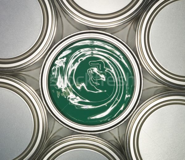 Zöld festékes flakon konténer Stock fotó © gemenacom