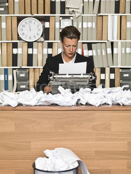 женщины автор грязный служба бумаги Дать Сток-фото © gemenacom
