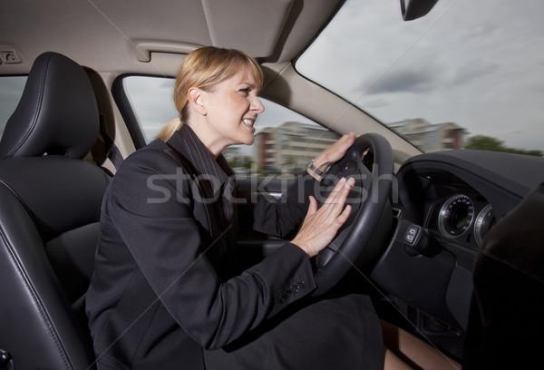 Woman in the car Stock photo © gemenacom