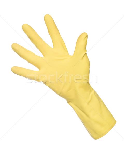 Yellow Protection Glove isolated on white Stock photo © gemenacom