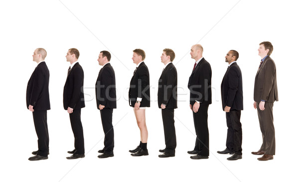 Man without pants on a line Stock photo © gemenacom