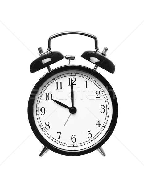 Dez despertador isolado branco relógio fundos Foto stock © gemenacom