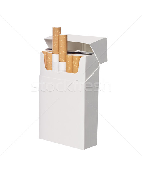 Doboz cigaretta izolált fehér diagram cigaretta Stock fotó © gemenacom