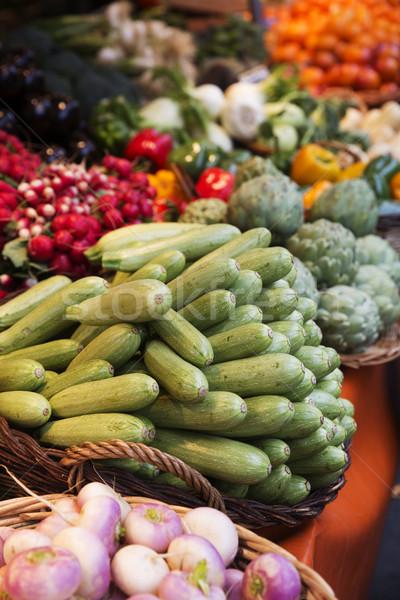 Cena Paris mercado supermercado cenoura Foto stock © gemenacom