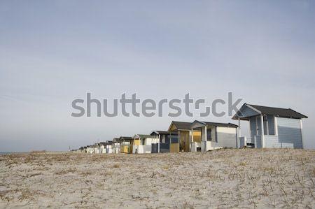 Tengerpart csetepaté zárt nap nyár doboz Stock fotó © gemenacom