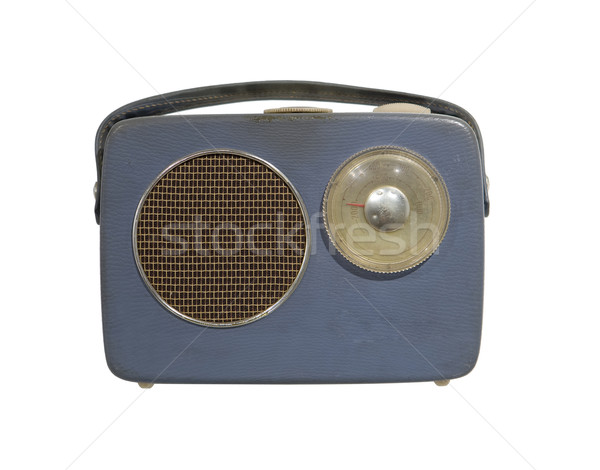 Vintage radio isolé blanche technologie Photo stock © gemenacom