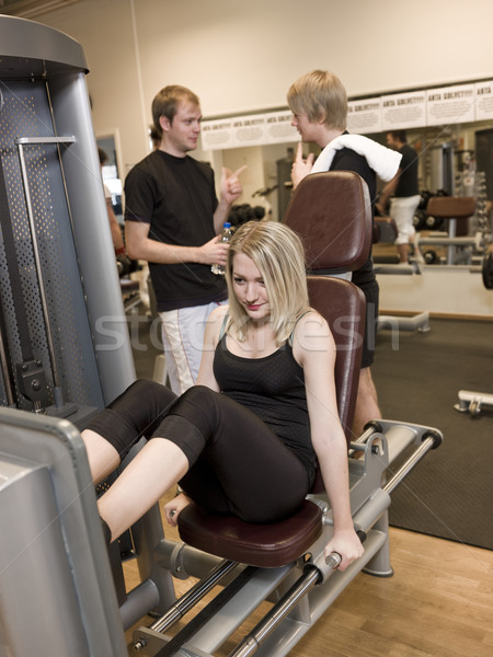 Girl using an exercise machine  Stock photo © gemenacom