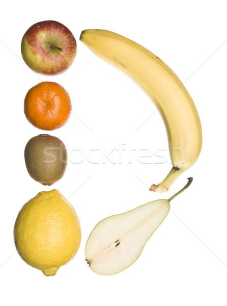 D betű ki gyümölcs izolált fehér iskola Stock fotó © gemenacom