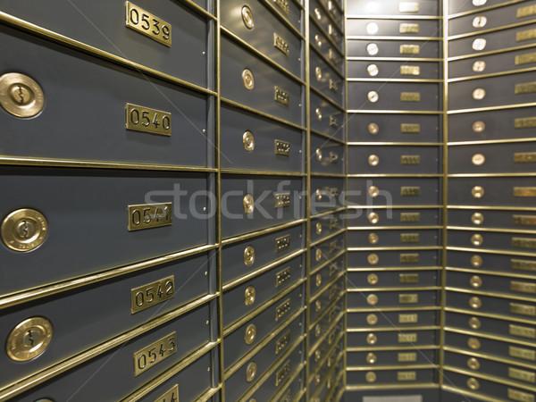 Rows of luxurious safe deposit boxes Stock photo © gemenacom