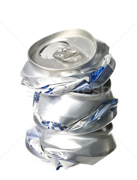 Crushed Aluminium Cans Stock photo © gemenacom
