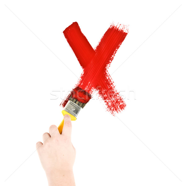 Stock photo: Painting Letter X