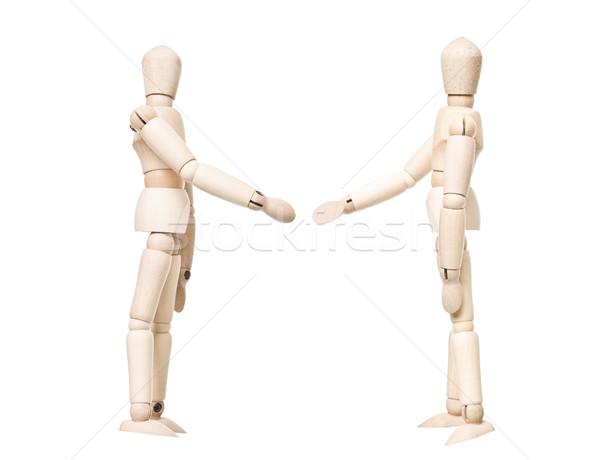 Desenho bonecas aperto de mão isolado branco Foto stock © gemenacom