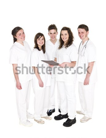 Patient personnel isolé blanche médecin hommes Photo stock © gemenacom