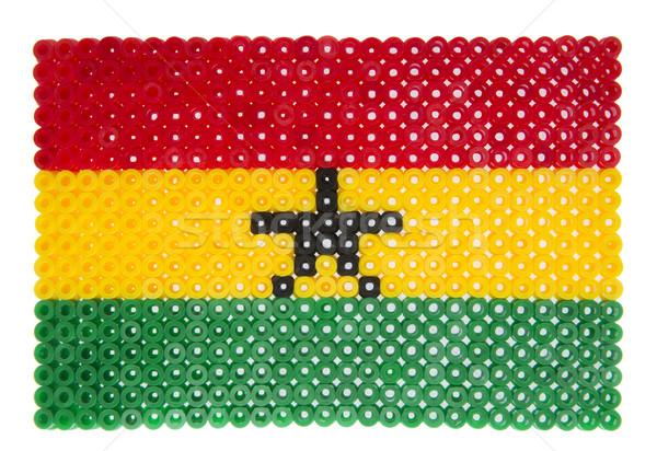 флаг Гана пластиковых жемчуга знак красный Сток-фото © gemenacom