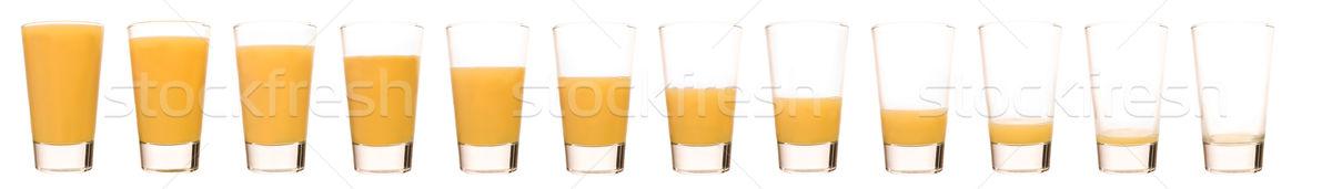 Sinaasappelsap tijd glas oranje ontbijt sap Stockfoto © gemenacom