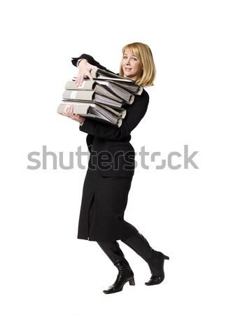 Woman overloaded with work Stock photo © gemenacom