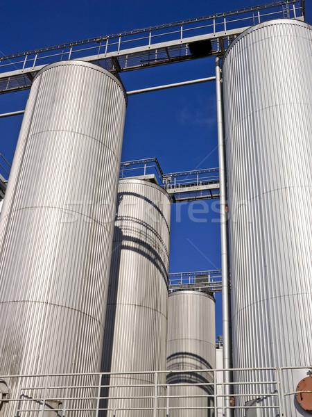 Silo towards blue sky Stock photo © gemenacom